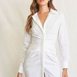 Ruched Shirt Mini Dress | Forever 21 (US)
