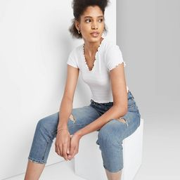 Women's Super-High Rise Distressed Mom Taper Jeans - Wild Fable™ Medium Wash | Target