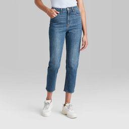 Women's Super-High Rise Mom Taper Jeans - Wild Fable™ Medium Blue | Target