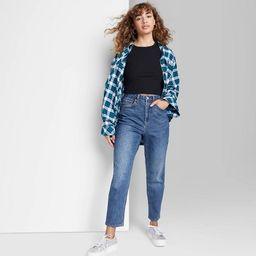 Women's Super-High Rise Curvy Mom Taper Jeans - Wild Fable™ Dark Wash | Target