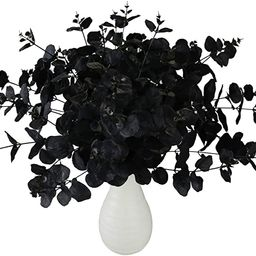 Greentime 2 Pack Black Fake Flowers Artificial Eucalyptus Stems Bouquet with 20 Branches 18.5 Inc... | Amazon (US)
