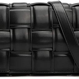 Woven Crossbody Handbag Purse for Women, Small Shoulder Messenger Bag Clutch Wallet Square Bag | Amazon (US)