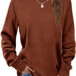 Dofaoo Sweatshirts for Women Crewneck Long Sleeve Shirts Tunic Tops for Leggings | Amazon (US)