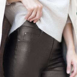 Leather-Like Ankle Skinny Pant | Spanx