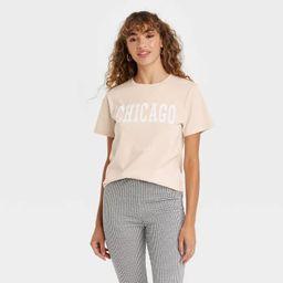Women's Chicago Short Sleeve Graphic T-Shirt - Beige | Target