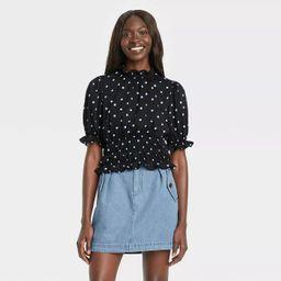 Women's Ruffle Elbow Sleeve High Neck T-Shirt - Who What Wear™ | Target
