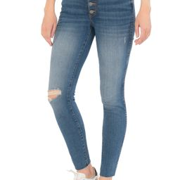 Donna Fab Ab Exposed Button Ripped Ankle Skinny Jeans | Nordstrom