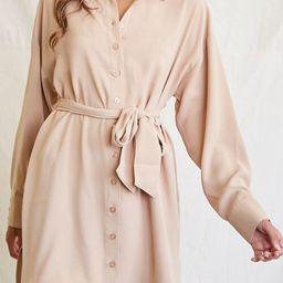 Tie-Waist Shirt Dress | Forever 21 (US)