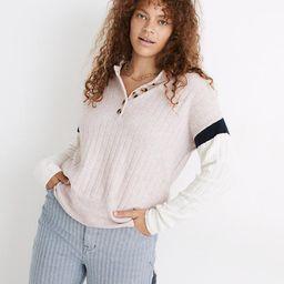 Striped Bowden Henley Sweater in Coziest Yarn | Madewell
