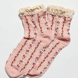 Rosebud Waffle Knit Ankle Socks | Free People (US)