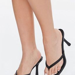 Faux Leather Thong Heels   Forever 21 (US)