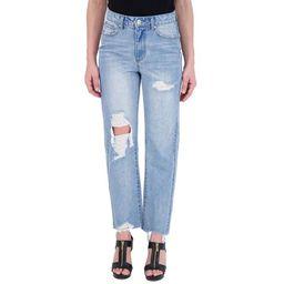 Gogo Straight Leg Jean with Knee Cutout   Walmart (US)