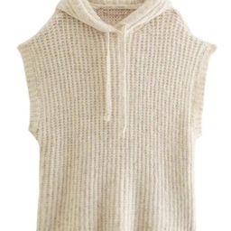 'Yaki' Sleeveless Hooded Knitted Sweater | Goodnight Macaroon