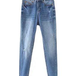 'Nadia' Distressed Raw Hem Skinny Jeans | Goodnight Macaroon