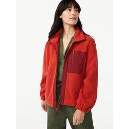 Free Assembly Women's Teddy Fleece Zip-Up Jacket | Walmart (US)