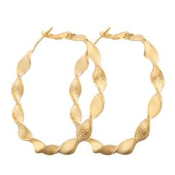 'Charlotte' Hemp Wreath Gold Hoop Earrings | Goodnight Macaroon