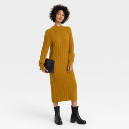 Women's Long Sleeve Ribbed Knit Sweater Dress - A New Day™ | Target
