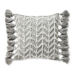 West Beach Pillow Cover - Heathered Smoke | Serena and Lily