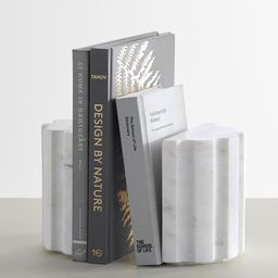 White Marble Book Ends,S/2 | Pottery Barn (US)