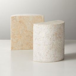 Column Marble Bookends Set of 2 + Reviews | CB2 | CB2
