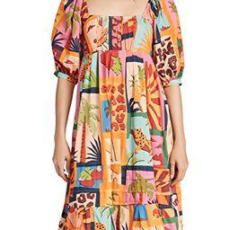 Tropical Collage Midi Dress | Shopbop