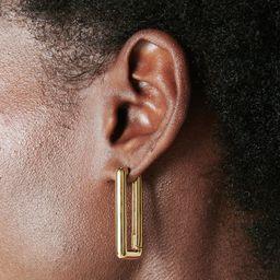 Chunky Link Earrings   Anine Bing