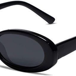 Vanlinker 90s Sunglasses Women Polarized Retro Oval Sunglasses Tinted Glasses VL9580   Amazon (US)