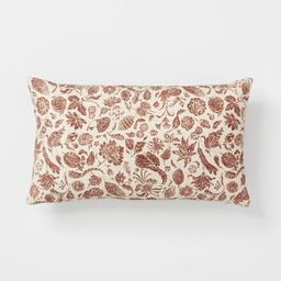 Floral Printed Throw Pillow Rust/Cream - Threshold™ designed with Studio McGee | Target