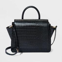 Alligator Print Top Handle Satchel Handbag - A New Day™   Target