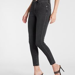 High Waisted Supersoft Black Skinny Jeans   Express