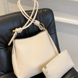 Knot Detail Bucket Bag With Inner Pouch   SHEIN