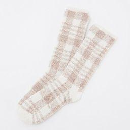Barefoot Dreams Cozy Chic Women's Plaid Socks | QVC