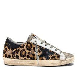 Golden Goose Superstar Sneaker in Snow Leopard & Black from Revolve.com   Revolve Clothing (Global)