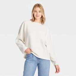 Women's Long Sleeve Ottoman T-Shirt - A New Day™ | Target