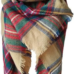 Qupish Plaid Blanket Winter Scarfs for Women Soft Warm Cozy Scarf Classic Chunky Oversized Wrap S...   Amazon (US)