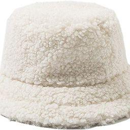 Womens Lambs Wool Bucket Hat Japanese Cute Girls Outdoor Sports Fisherman Cap for Women Casual Wi... | Amazon (US)