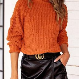 Best Case Rust Knit Sweater | Shop Priceless