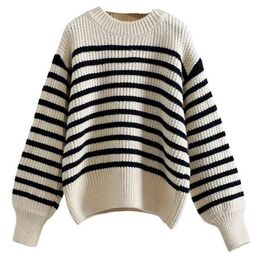 'Eloisa' Striped Crewneck Sweater (3 Colors)   Goodnight Macaroon