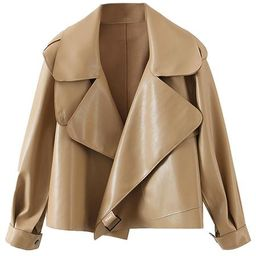 'Jennie' Boxy Faux Leather Jacket (3 Colors)   Goodnight Macaroon