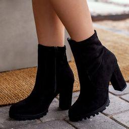 Stand Out Black Vegan Suede Boots | Shop Priceless