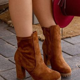 Stand Out Tan Vegan Suede Boots | Shop Priceless