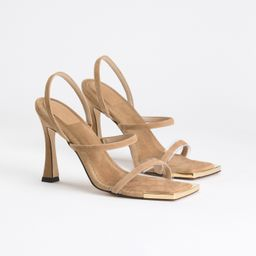 STANDOUT SQUARE TOE 100   SUEDE BEIGE002   Good American