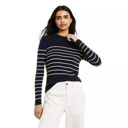 Women's Striped Crewneck Pullover Sweater - Nili Lotan x Target Navy   Target