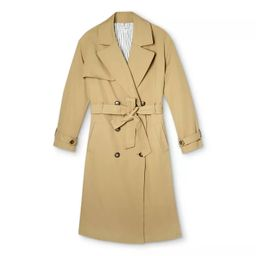 Women's Pleated Back Trench Coat - Nili Lotan x Target Khaki   Target