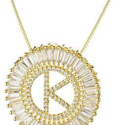 COTTVOTT A-Z Alphabet Pendant Necklaces Charms Women Initial Letter Chain Necklace 4 Colors | Amazon (US)