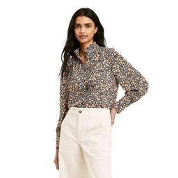 Women's Floral Print Long Sleeve Pleated Blouse - Nili Lotan x Target Black   Target