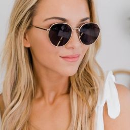 Worlds Collide Circle Frame Gold Sunglasses   The Pink Lily Boutique