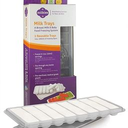 Milkies Milk Trays, Breastmilk Freezer Tray Organizer, Freeze and Store Your Milk and Baby Food i... | Amazon (US)