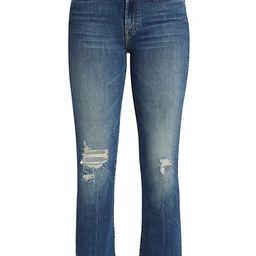 Insider High-Rise Cropped Step-Hem Jeans   Saks Fifth Avenue