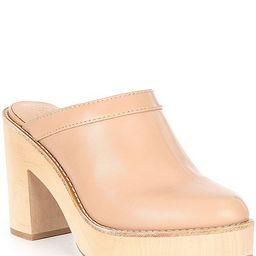 x Kimberly Whitman Camellia Leather Clogs   Dillards